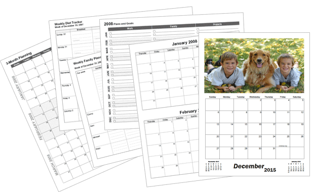 Create custom printable calendars calendarsquick for Create my own calendar template
